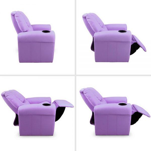KID RECLINER PUR 03 600x600 - Amy Kids Recliner Armchair - Purple