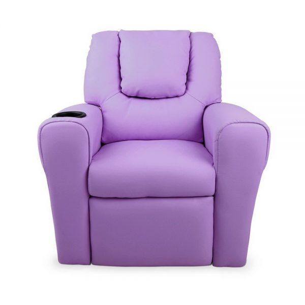 KID RECLINER PUR 04 600x600 - Amy Kids Recliner Armchair - Purple