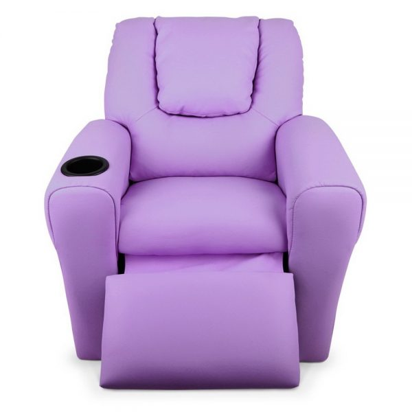 KID RECLINER PUR 05 600x600 - Amy Kids Recliner Armchair - Purple