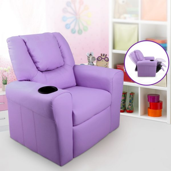 KID RECLINER PUR 06 600x600 - Amy Kids Recliner Armchair - Purple