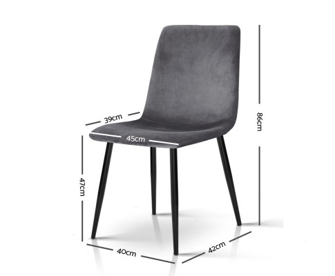 MO DIN 03 VEL GYX4 01 - Collins Velvet Dining Chair - Grey