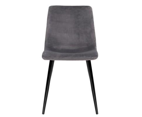MO DIN 03 VEL GYX4 02 - Collins Velvet Dining Chair - Grey