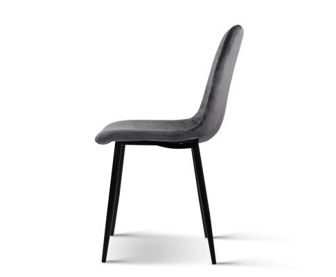 MO DIN 03 VEL GYX4 03 - Collins Velvet Dining Chair - Grey