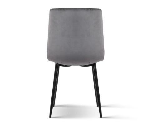 MO DIN 03 VEL GYX4 04 - Collins Velvet Dining Chair - Grey