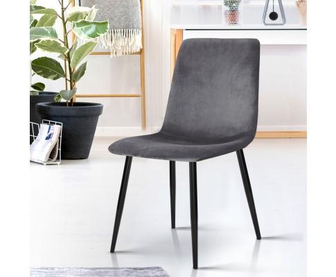 MO DIN 03 VEL GYX4 06 - Collins Velvet Dining Chair - Grey
