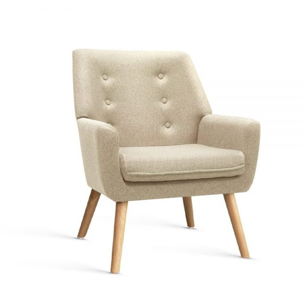 UPHO B ARM04 BG 00 600x600 - Cleon Armchair - Beige