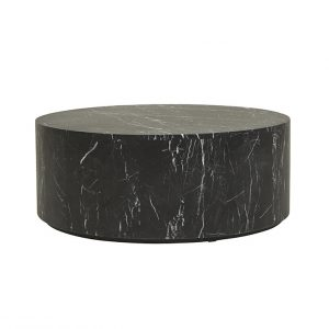cto ell blo mtbk 1 300x300 - Elle Round Block Coffee Table - Black Marble