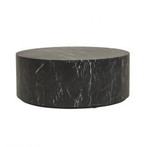 cto ell blo mtbk 1 300x300 - Elle Round Block Coffee Table - Black Marble