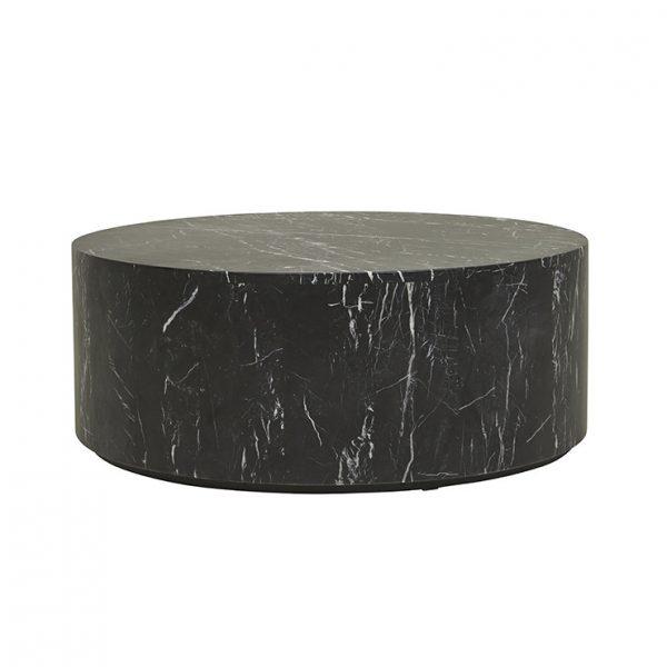 cto ell blo mtbk 1 600x600 - Elle Round Block Coffee Table - Black Marble