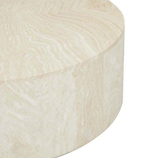 cto ell blo natrv 3 600x600 - Elle Round Block Coffee Table - Travertine