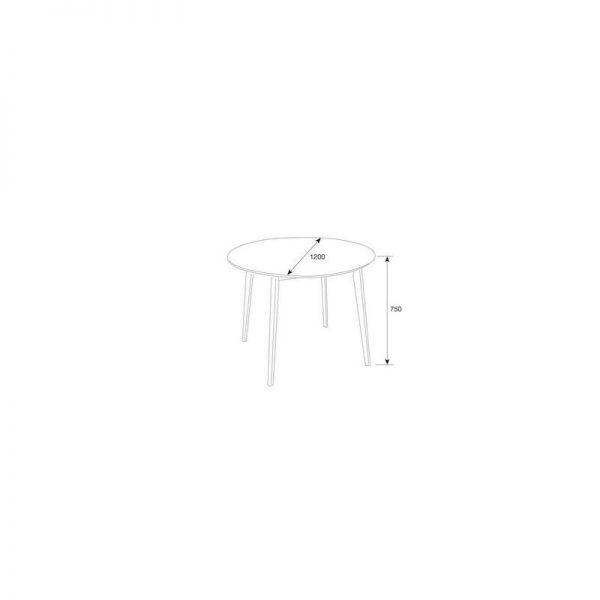 tu loft round dining table 1185452 02 600x600 - Loft Round Dining Table - Walnut
