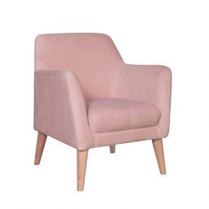 Alisa Armchair Velvet Blush NaturalC29209 300x300 - Alisa Accent Chair - Blush Pink Velvet