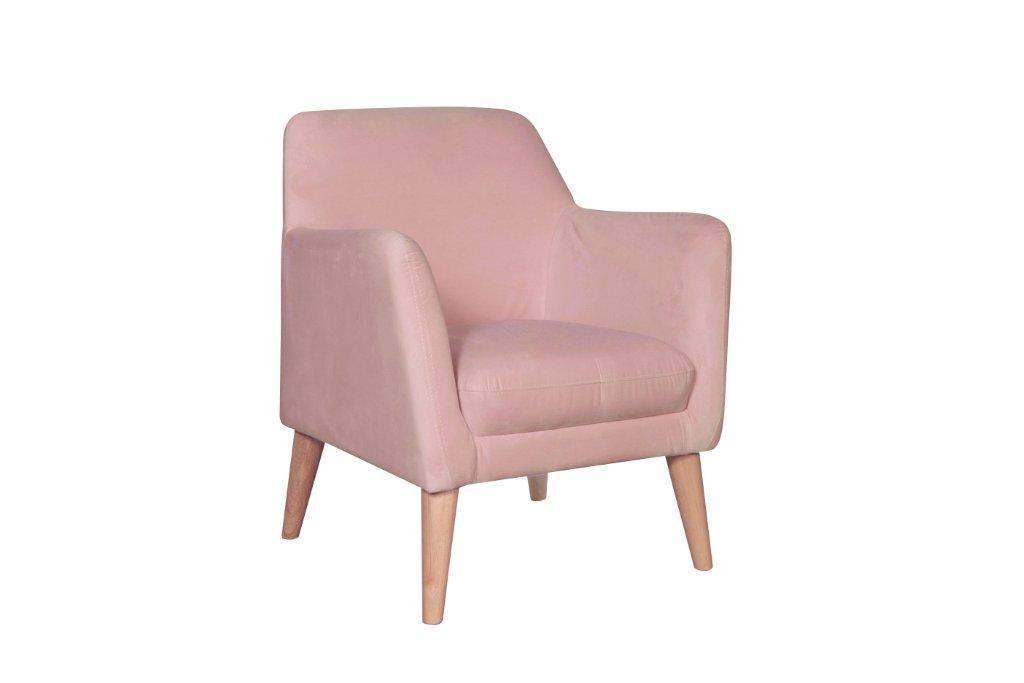 Alisa Armchair Velvet Blush NaturalC