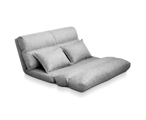 FLOOR SBL 200LIN S GY 00 - Argus Floor Lounge Sofa Bed - Grey