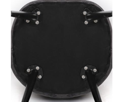 MO DIN 02 VEL BKX2 05 - Georgia Velvet Dining Chair - Dark Grey/Black Frame