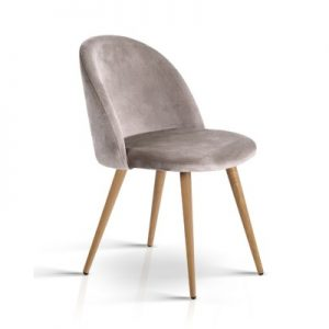 MO DIN 02 VEL LI GYX2 00 300x300 - Georgia Velvet Dining Chair - Light Grey