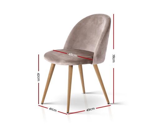 MO DIN 02 VEL LI GYX2 01 - Georgia Velvet Dining Chair - Light Grey