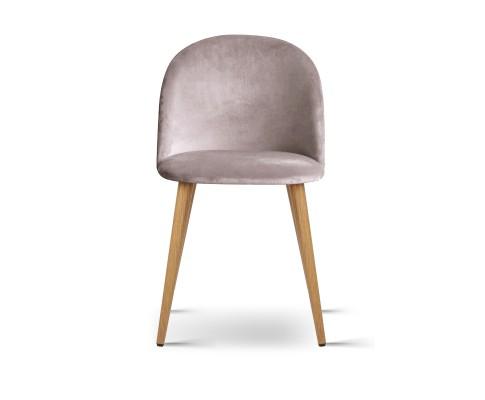 MO DIN 02 VEL LI GYX2 02 - Georgia Velvet Dining Chair - Light Grey