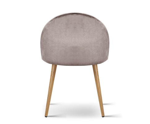 MO DIN 02 VEL LI GYX2 03 - Georgia Velvet Dining Chair - Light Grey
