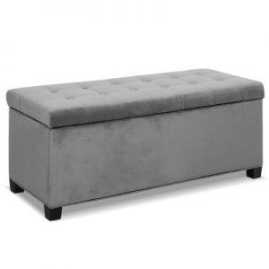 OTM F VEL LI GY 00 300x300 - Janelle Grey Velvet Storage Ottoman