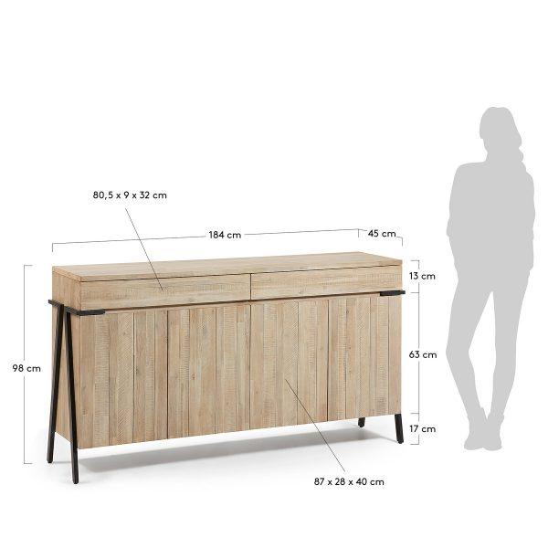 DI001M46 9 600x600 - Disset 4 door Sideboard