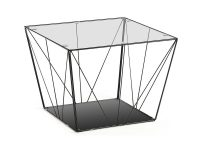 stolik kawowy paradigm 80 cm zloty - Leroy Glass Side Table