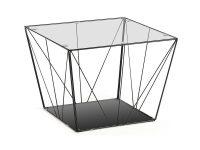 stolik kawowy paradigm 80 cm zloty - Leroy Glass Side Table