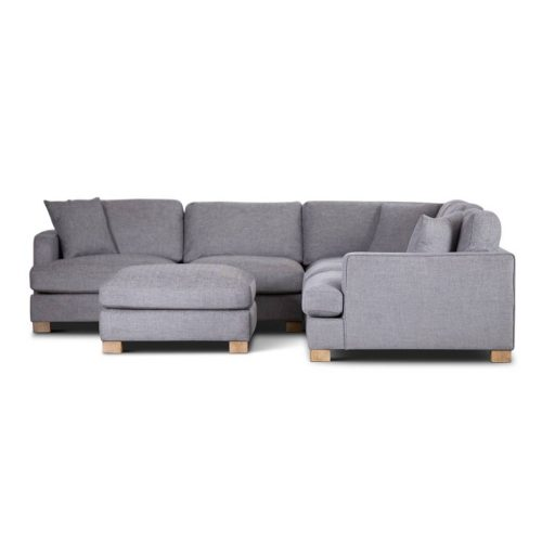 vo avoc 01 gry 2 500x500 - Avoca 6 Seater Corner Suite With Ottoman - Grey