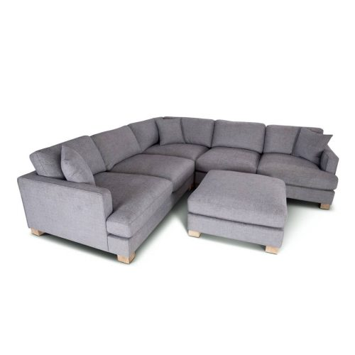 vo avoc 01 gry 4 500x500 - Avoca 6 Seater Corner Suite With Ottoman - Grey