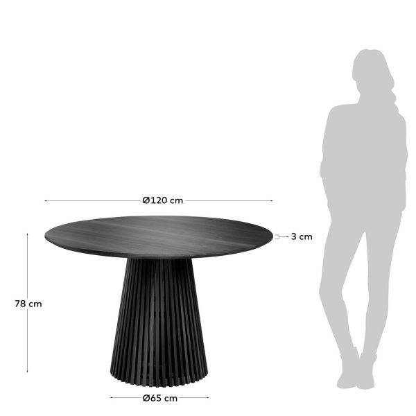 CC1939M01 3 600x600 - Irune 1200 Dining Table - Black