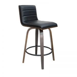 knox1 300x300 - Knox Barstool - Walnut with Black Seat