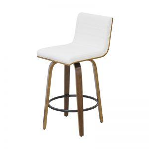 knox3 300x300 - Knox Barstool - Walnut with White Seat