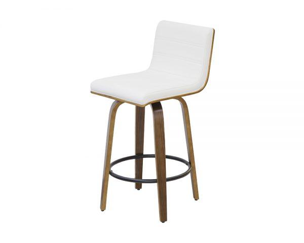 knox3 600x480 - Knox Barstool - Walnut with White Seat