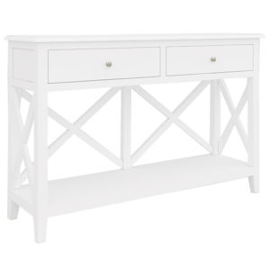 VO HAMP 07 300x300 1 - Hampton Timber 2 Drawer Console Table - White