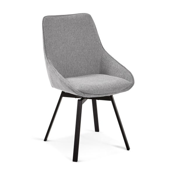CC1154PK03 0 600x600 - Haston Swivel Dining Chair - Light Grey