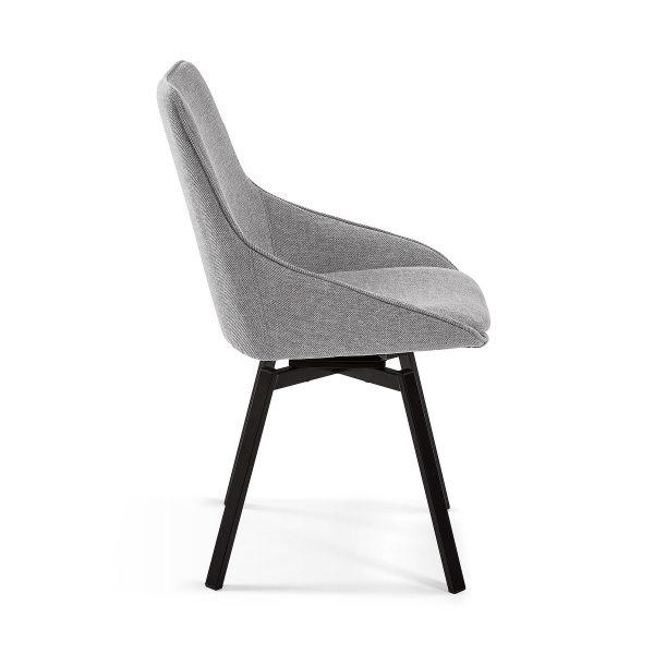 CC1154PK03 1 600x600 - Haston Swivel Dining Chair - Light Grey