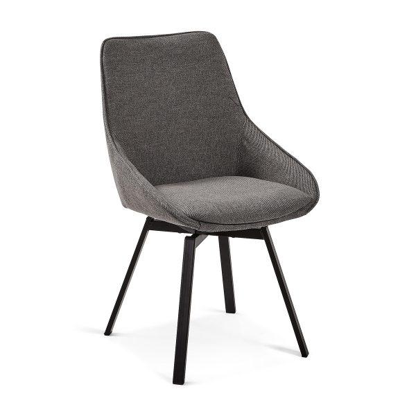 CC1154PK15 0 600x600 - Haston Swivel Dining Chair - Dark Grey
