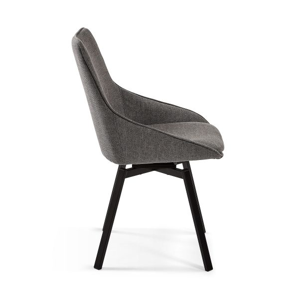 CC1154PK15 1 600x600 - Haston Swivel Dining Chair - Dark Grey