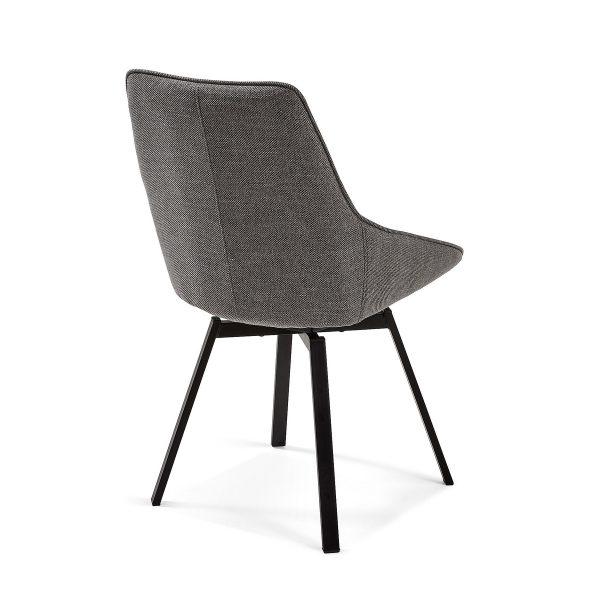 CC1154PK15 2 600x600 - Haston Swivel Dining Chair - Dark Grey