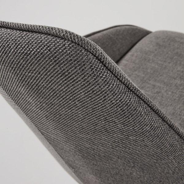 CC1154PK15 3 600x600 - Haston Swivel Dining Chair - Dark Grey