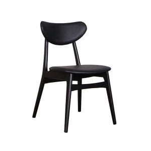DCF 300x300 - Falkland Dining Chair - Black/Black PU