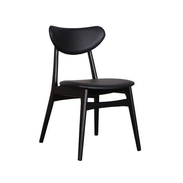 DCF - Falkland Dining Chair - Black/Black PU