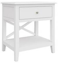 Hampton 1  - Hampton 1 Drawer 1 Shelf Bedside Table