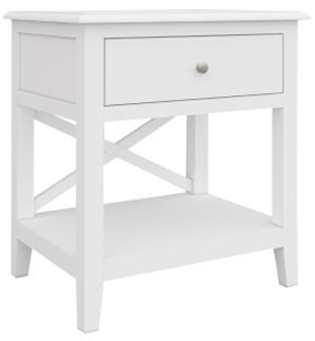 Hampton 1  - Hampton 1 Drawer 1 Shelf Bedside Table