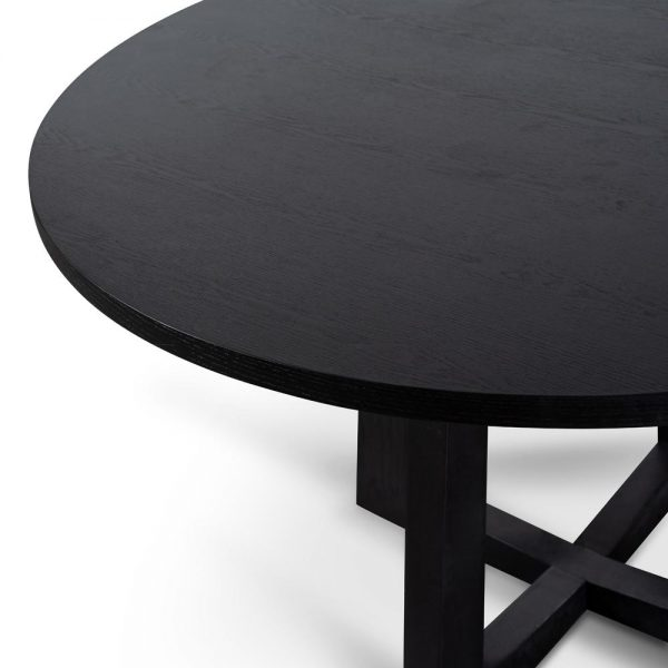 dt587 sd 4 1600x 600x600 - Richo 1200 Round Dining Table - Black