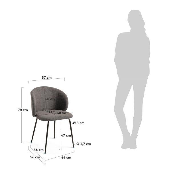 minna5 600x600 - Minna Dining Chair - Dark Grey