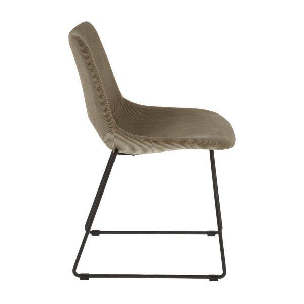 CC0826PN15 1 600x600 - Ziggy Dining Chair - Grey Corduroy Fabric