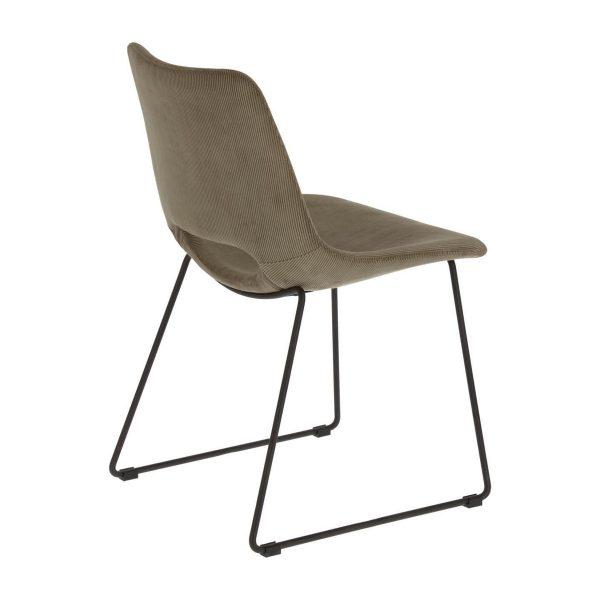 CC0826PN15 2 600x600 - Ziggy Dining Chair - Grey Corduroy Fabric