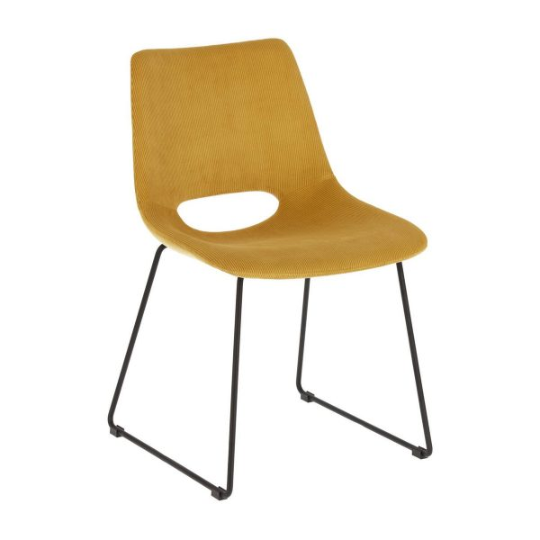 CC0826PN81 0 600x600 - Ziggy Dining Chair - Mustard Corduroy Fabric