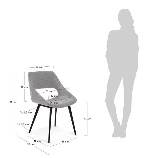 CC1149PK03 8 600x600 - Hest Dining Chair-Light Grey